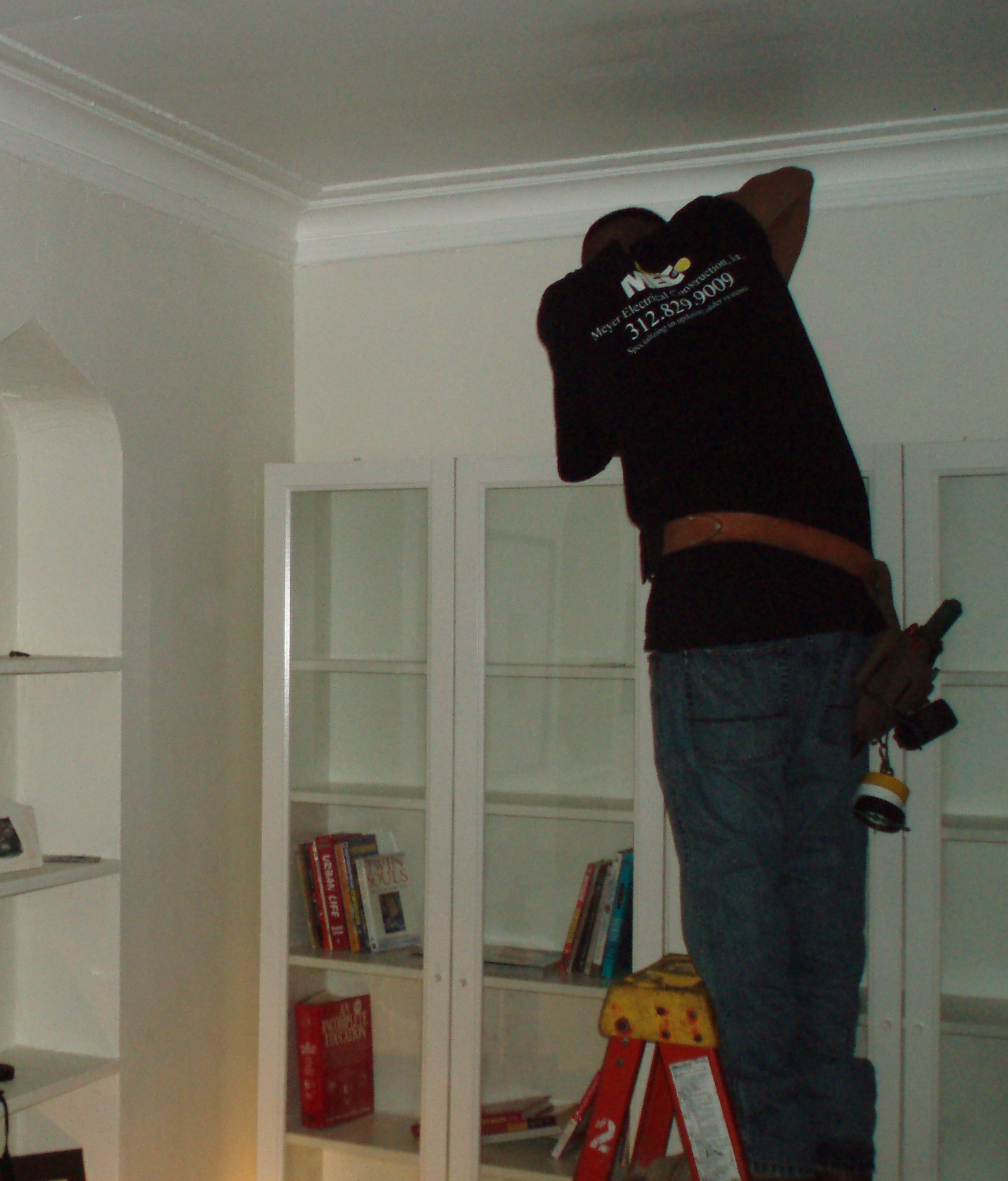 installing bookcase lighting