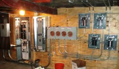 new circuit breaker panels and meter bank