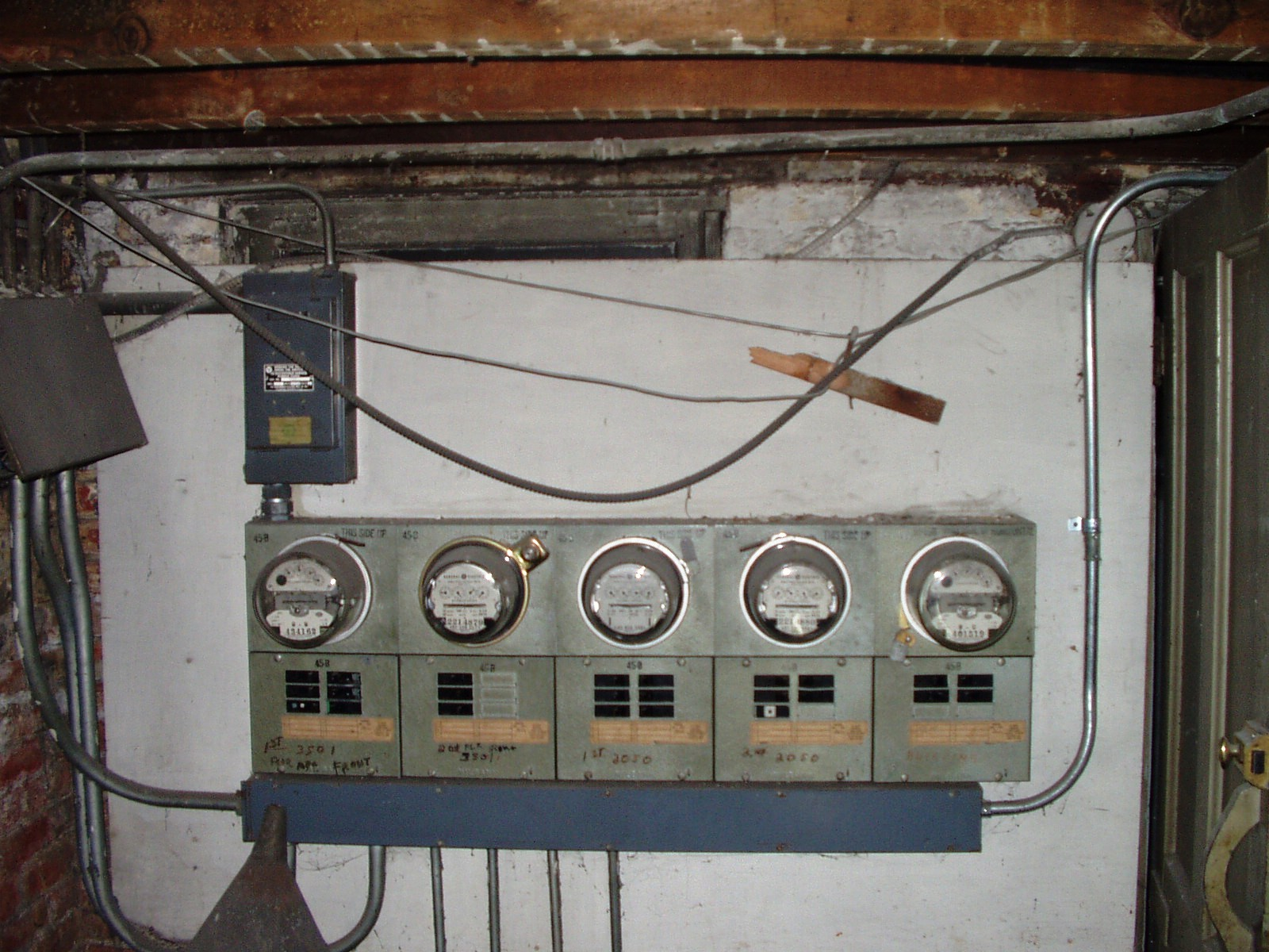 meters in the basement before