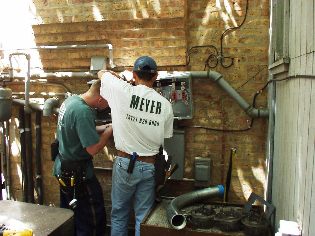 Installing new meter bank